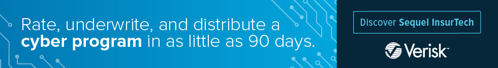 Rate, underwrite, and distribute a cyber program in as little as 90 days. Discover sequel Insurtech. Verisk.